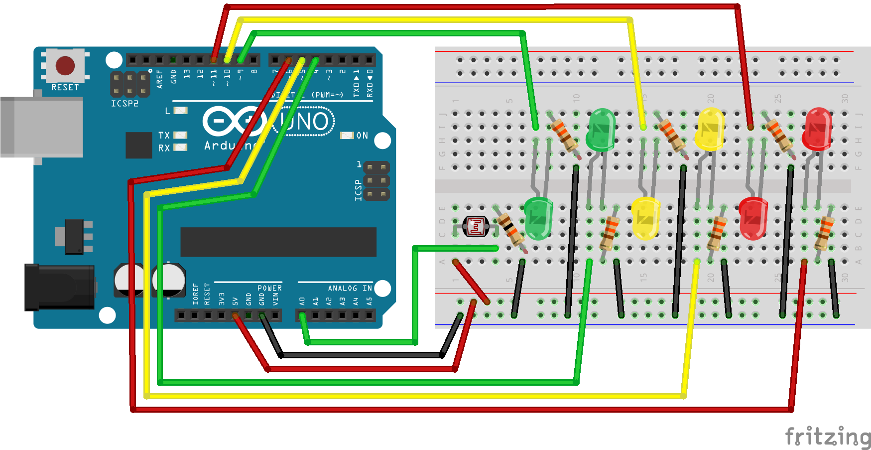 Arduino Code For 2 Way Traffic Light Finite State Circuit Diagram Wiring