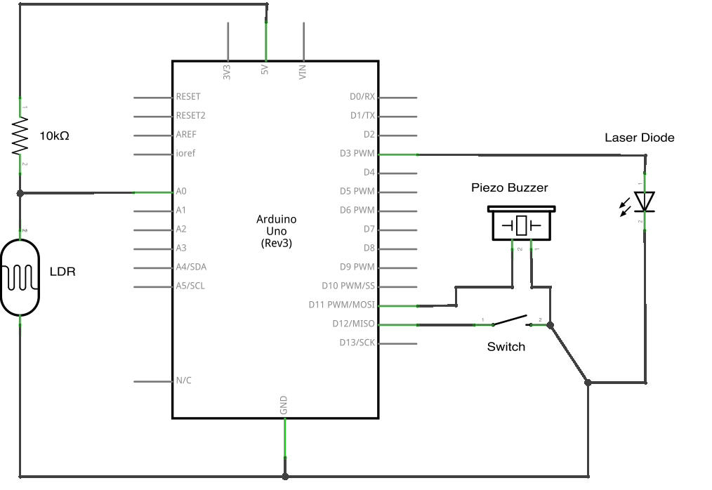 Programando El Zumbador En Bitbloq also How To Build A Gsm Cellular Panic Alarm Using Arduino besides Reading Circuit Diagrams besides Switching Piezo Buzzer With A Transistor besides Stepper Motor Driver Unipolar Bipolar Module Uln2003. on arduino piezo buzzer circuit